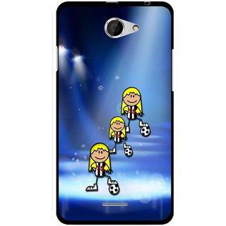 Snooky Designer Print Hard Back Case Cover For HTC Desire 516