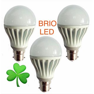 3 W White Led Bulb (Set Of 3)
