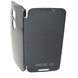 Hi Grade Black Flip Cover for Motorola Moto X2