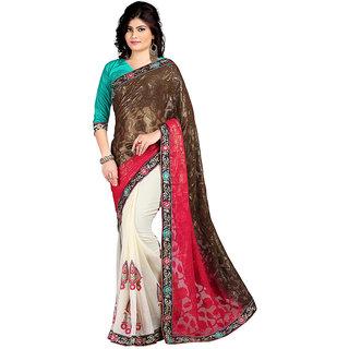 Karishma Multicolor Jacquard Plain Saree With Blouse