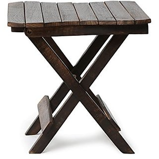 Shilpi Wooden Deautiful Design Folding Table For Living Room Size(LxBxH-12x12x12) Inch