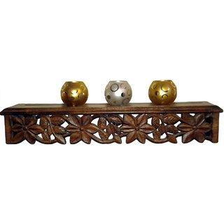 Shilpi Beautiful Wooden Decorative Corner Wall Hanging Bracket Shelf  NHSCW004