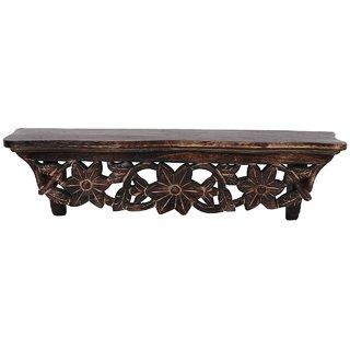 Shilpi Beautiful Wooden Decorative Corner Wall Hanging Bracket Shelf  NHSCW003