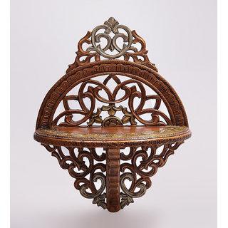 Shilpi Beautiful Wooden Decorative Corner Wall Hanging Bracket Shelf  NSHC0169