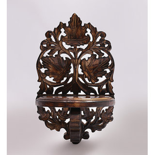 Shilpi Beautiful Wooden Decorative Corner Wall Hanging Bracket Shelf  NSHC0167