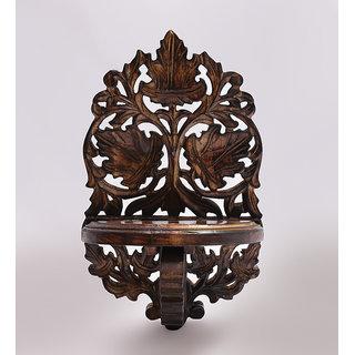 Shilpi Beautiful Wooden Decorative Corner Wall Hanging Bracket Shelf  NSHC0168