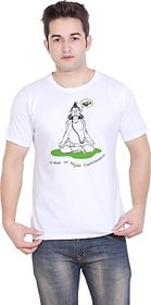 Tantra Graphic Print Mens Round Neck White T-Shirt