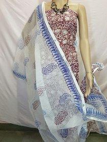 Anjumann creations Chanderi embroidered salwar suit dress material