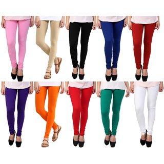 Stylobby Womens Leggings Pack Of 10