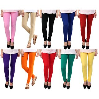 Stylobby Womens Leggings Pack Of 10