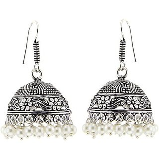 a12697effc6f Buy Das Jewelry Style Diva Sparkle German Silver Jhumki Earring ...