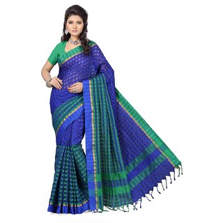 Bhavishya Designers  Banarasi Checkred Art Silk Saree