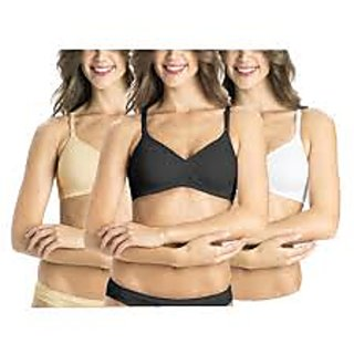 6 pc LADIES COTTON BRA ASSORTED COLOR SIZE 40