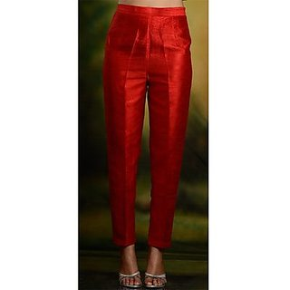 cigarette pants/women trousers pants/Red color pants/ ladies trouser/pants