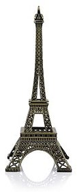 Mr.Stephens Metal Mini Paris Eiffel Tower Royalo Showpiece Gift of Love and Passion  Height 9 cm