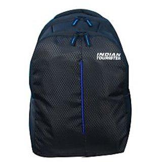 Indian Tourister Backpack Amazing Black Blue Laptop Bag