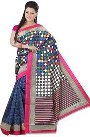 SVB Multicolor Cotton Block Print Saree With Blouse