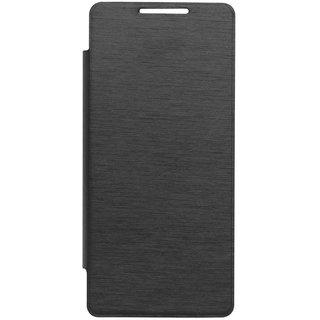 Hi Grade Black Flip Cover for Intex Aqua i5 HD