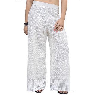796116cfd1b Buy cotton palazzo women palazzo pants full chikan palazzo  palazzo  FREE  SIZE Online   ₹600 from ShopClues