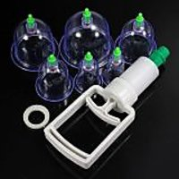 Vacuum Body Cupping Massage Therapy Healthy Suction-6 Cup-6 Cups