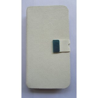 Leather Flipcover Flip Cover For Samsung Galaxy S4 i9500 White Color