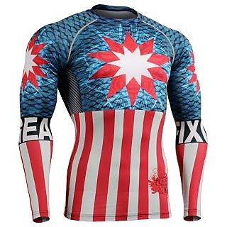 suris men gym fashion printed tshirt in multi colour