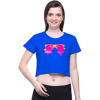 Uptown 18 Blue Printed Crop Top