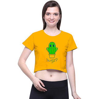 Uptown 18 Yellow Printed Crop Top