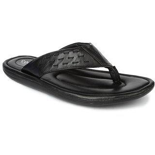 Liberty MenS Black Casual Slippers