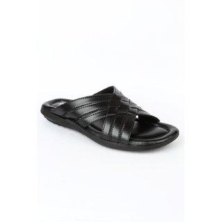 Liberty MenS Black Formal Slippers
