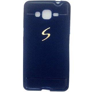 Leather Finish Back Cover For Samsung Galaxy Grand Prime Blue