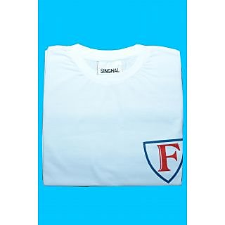 Singhal Round Neck Casual T-shirt White
