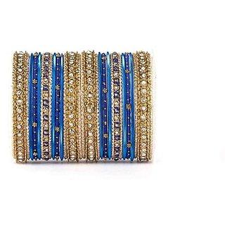 blue thread bangle set