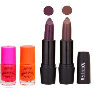 FB Ryth Blk Lipsticks And Nail Polish Important Combo 55