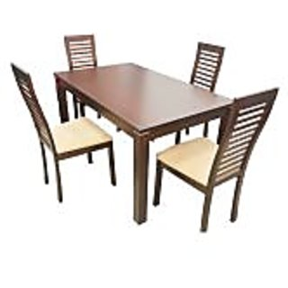 Forzza Peter Four Seater Square Dining Table Set
