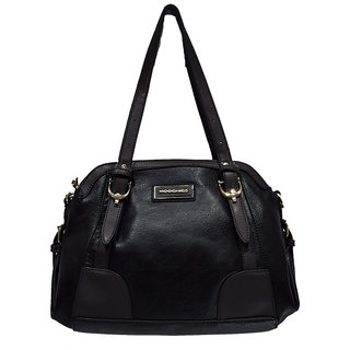 Moochies Ladies Leatherette Purse-Black Emzmocfoampurse60