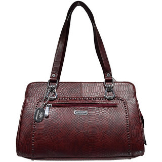 Moochies Ladies Leatherette Purse-Maroon Emzmocfoampurse80