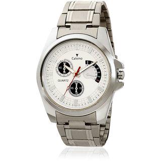Calvino Mens White Dial Watch CGAC142011SilverWhite