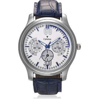Calvino Mens White Dial Watch CGAS1515524BluWht