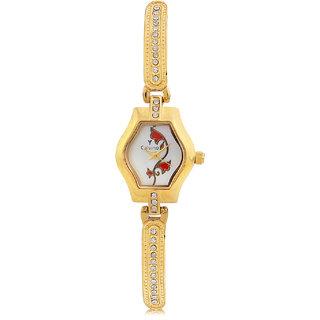 Calvino Mens White Dial Watch LDMD-145GoldWhite
