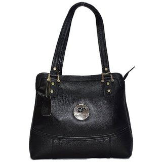 Moochies Dark Brown Genuine Leather Hand Bag Emzmoclwp3