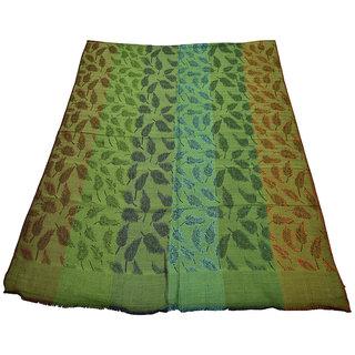 Sofias Designer Viscose Woven Medium Shawl  (70 Cms X 200 Cms) Green Emzvis395Ast2