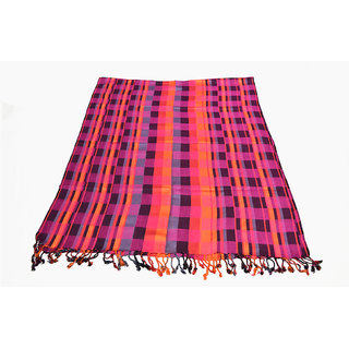 Sofias Designer Viscose Woven Medium Shawl  (70 Cms X 200 Cms) Multicolor Emzvis848St2