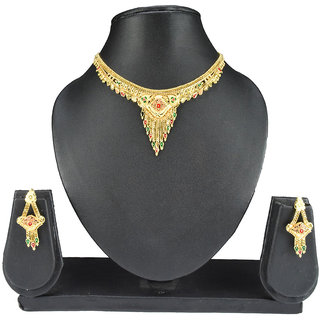 Oroca Arts Gold Plated Copper Necklace Set Pinnsets7