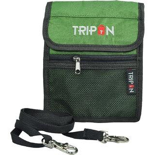 Tripon Designer Passport Sling Bag-Green