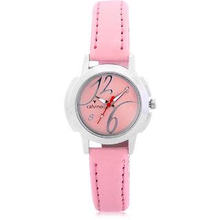 Calvino Womens Pink Dial Watch CLAS-1510440LPinkPink