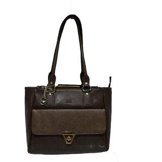 Moochies Ladies Leatherette Purse-Beige/Brown Emzmocfoampurse20