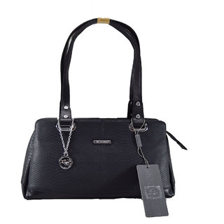 Moochies Ladies Leatherette Purse-Black Emzmocfoampurse36