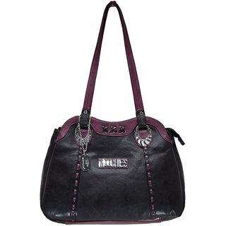 Moochies Ladies Leatherette Purse-Black Emzmocfoampurse4