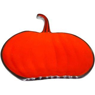 ArtnCrafts Aluminium Platter Pumpkin 95052 (Orange, Pack of 1)